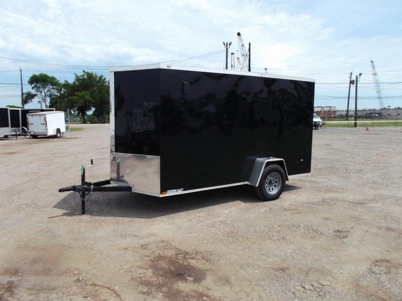 2021 Prime 6x12 Single Axle Cargo Trailer / Enclosed Trailer / 6ft Interior Height / Ramp / Side Door / LEDs