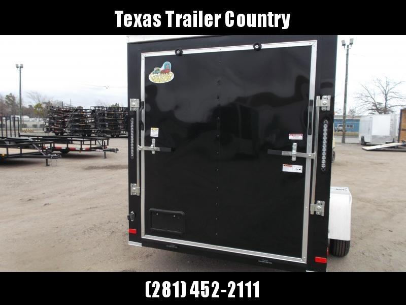 "2021 Covered Wagon Trailers 6x12 Single Axle Cargo / Enclosed Trailer / Ramp / RV Door / 6'6"" Interior / LEDs / Semi-Screwless Exterior"