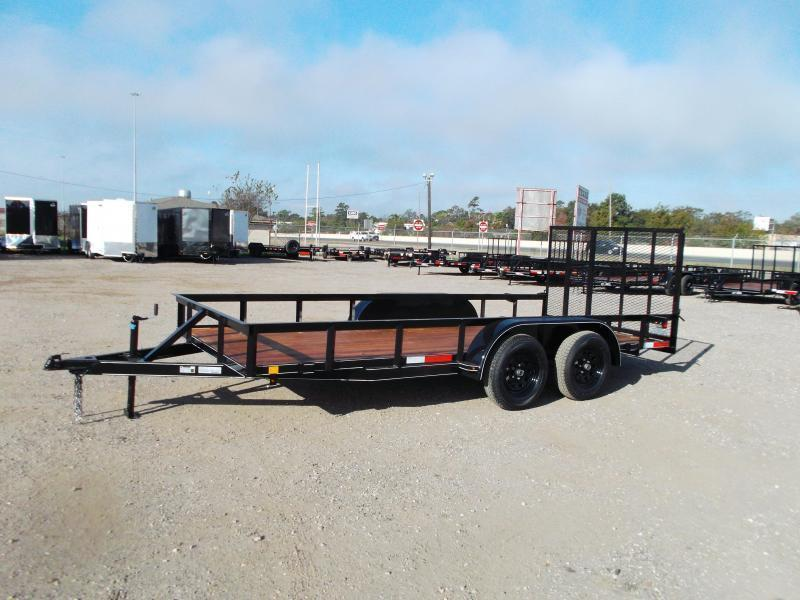 2021 TTC 77x16 Tandem Axle Utility Trailer / Lowboy Trailer / 4ft Ramp Gate / Electric Brakes