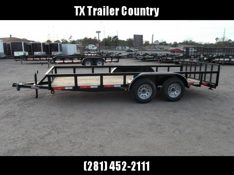2021 Longhorn Trailers 14ft Utility Trailer / ATV Trailer / 2ft Dovetail / 2ft Ramp Gate