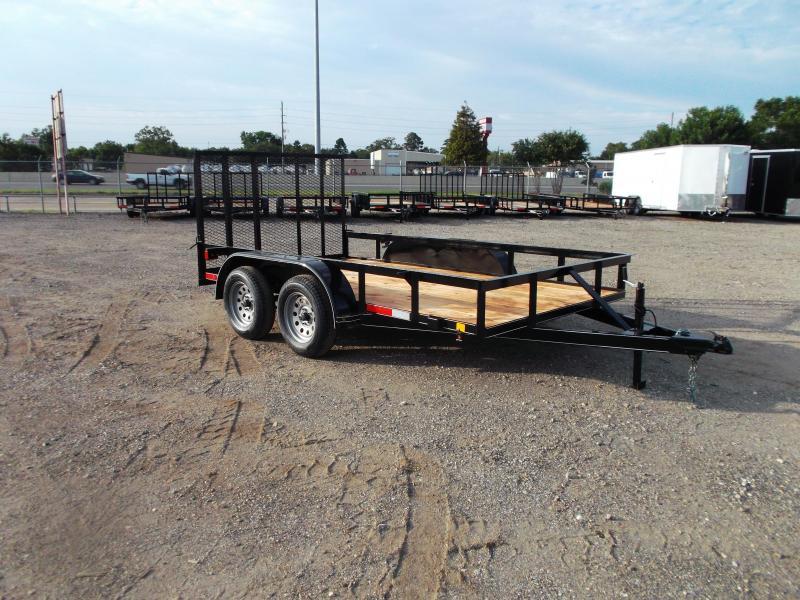 2021 TTC 77x12 Tandem Axle Utility Trailer / ATV Trailer / 4ft Ramp Gate