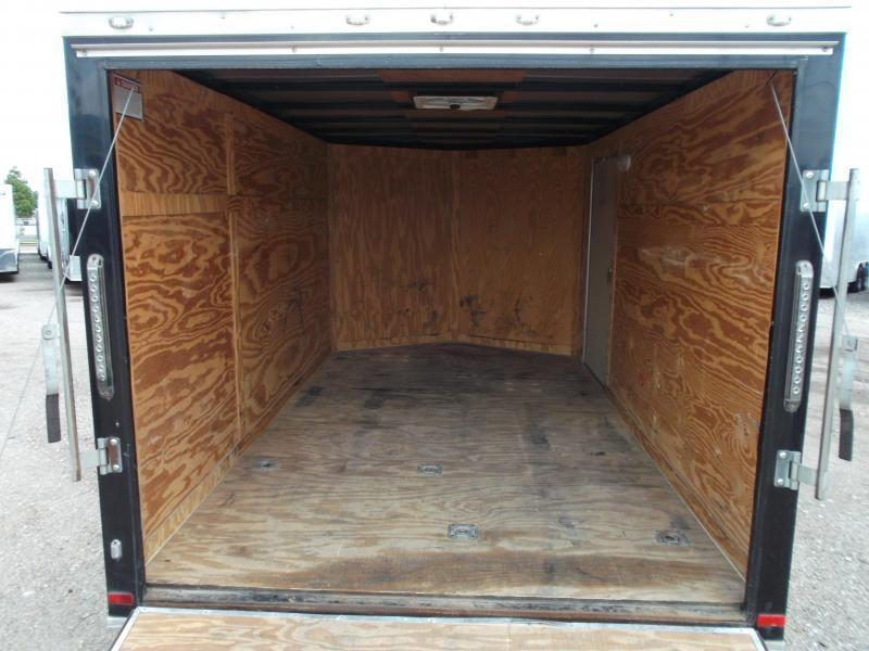 SPECIAL - 2019 Covered Wagon Trailers 7x12 Motorcycle Trailer / Cargo Trailer / Ramp / RV Door / LEDs / D-Rings