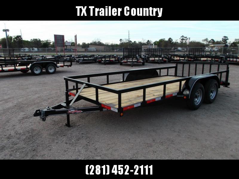 2021 Longhorn Trailers 16ft Utility Trailer / ATV Trailer / 2ft Dovetail / 2ft Ramp Gate