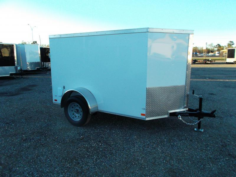 2020 Covered Wagon Trailers 5x8 Single Axle Cargo Trailer / Enclosed Trailer / Swing Door / Semi-Screwless Exterior / LEDs