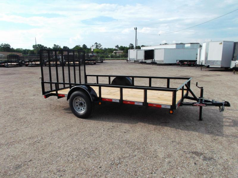2020 Longhorn Trailers 77x12 Single Axle Utility Trailer w/ Heavy Duty 4ft Ramp
