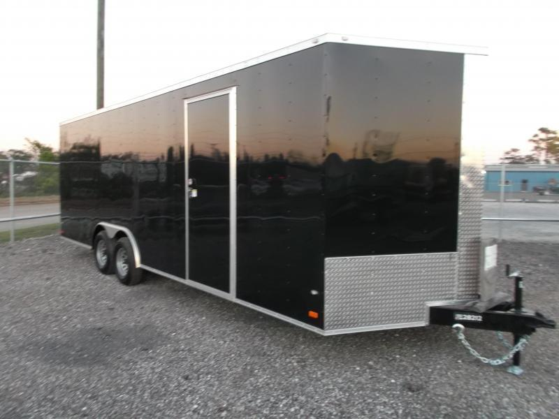 2021 Covered Wagon Cargo 8.5x24 Tandem Axle Cargo / Enclosed Trailer / 7ft Interior / 5200# Axles / Ramp / LEDs