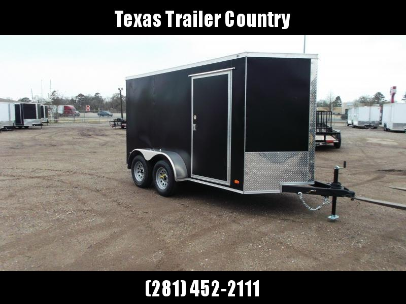 2021 Covered Wagon Trailers 6x12 Tandem Axle Cargo Trailer / Enclosed Trailer / Ramp / RV Side Door / LEDs / Black Powder Coated Skin / Semi-Screwless Exterior