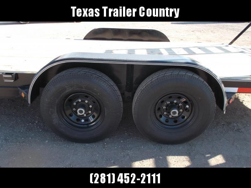2021 Longhorn Trailers 83x20 Tandem Axle 14K Car Hauler / Equipment Trailer / Flat Deck / 7000# Axles / 10K Jack / 2ft Dovetail / 5ft HD Stand Up Ramps