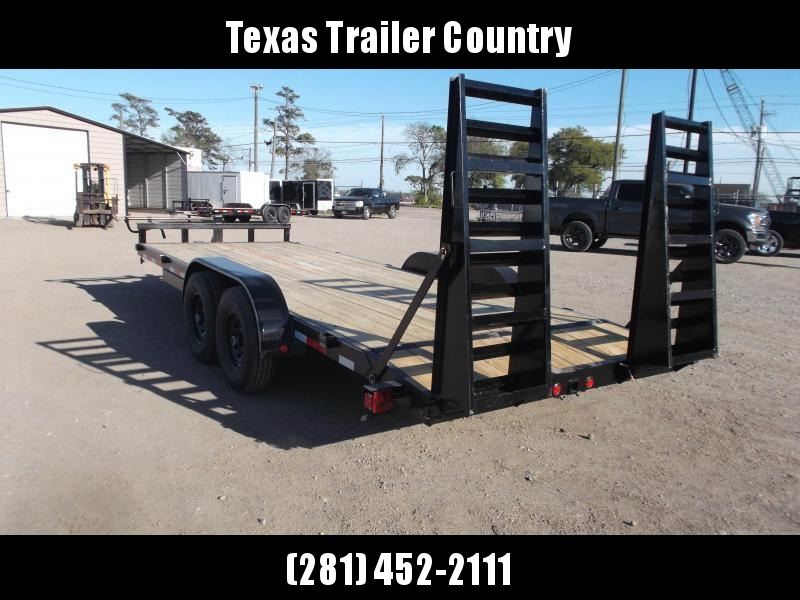 2021 Longhorn Trailers 83x20 Tandem Axle 14K Car Hauler / Equipment Trailer / Flat Deck / 7000# Axles / 10K Jack / 2ft Dovetail / 5ft HD Stand Up Ramps