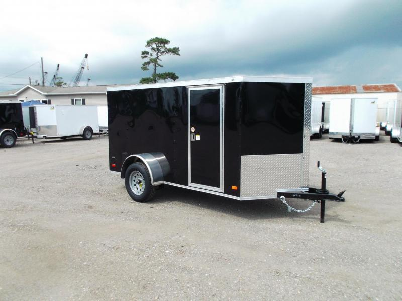 2021 Covered Wagon 5x10 Single Axle Cargo Trailer / Enclosed Trailer / Ramp / RV Side Door / LEDs / Black Out Package