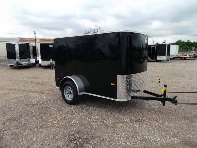 2021 Covered Wagon Trailers 5x8 Single Axle Cargo Trailer / Enclosed Trailer w/ Ramp Gate