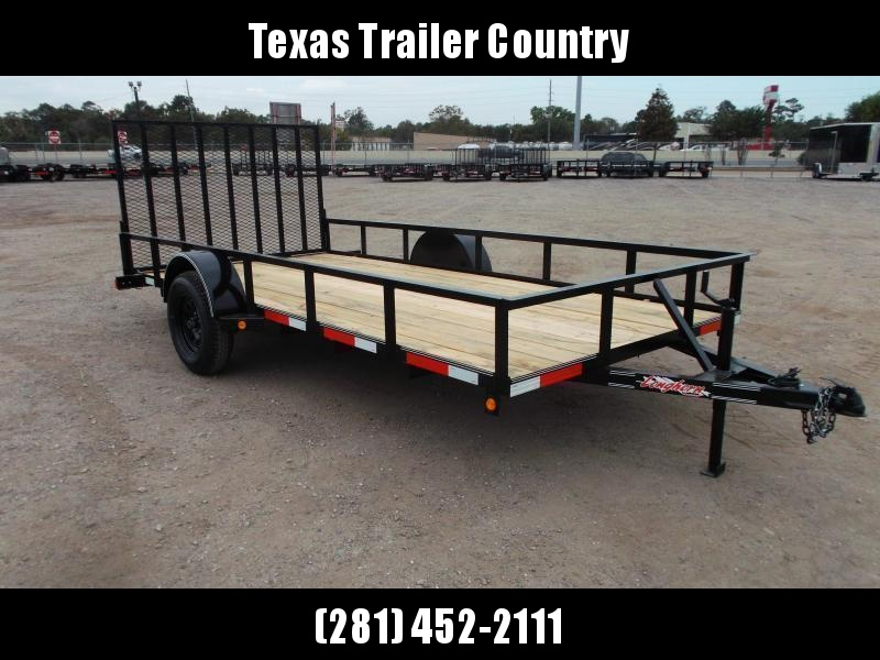 2021 Longhorn Trailers 77x14 Single Axle Utility Trailer w/ 4ft Heavy Duty Ramp Gate