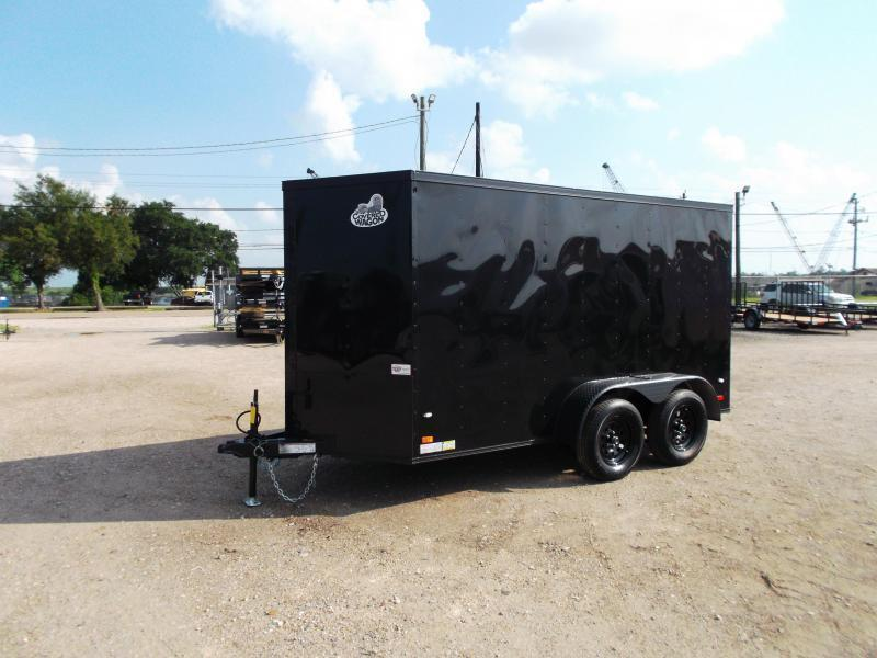 "2021 Covered Wagon Trailers 6x12 Tandem Axle Cargo Trailer / Enclosed Trailer / Black Out Package / 6'6"" Interior Height / Ramp / RV Side Door / LEDs"