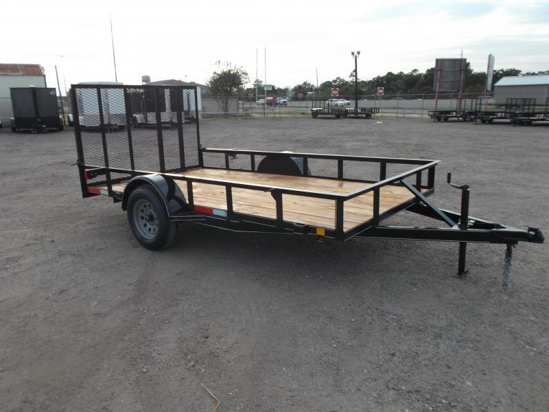 2021 TTC 77x12 Single Axle Utility Trailer / Wrap Tongue / 4ft Ramp Gate