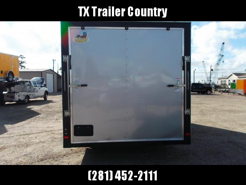 """2022 Covered Wagon Trailers 8.5x20 Tandem Axle Cargo / Enclosed Trailer / 7'6"""" Interior Height / 5200# Axles / Ramp / RV Side Door / LEDs / .030 Silver Semi-Screwless Exterior"""