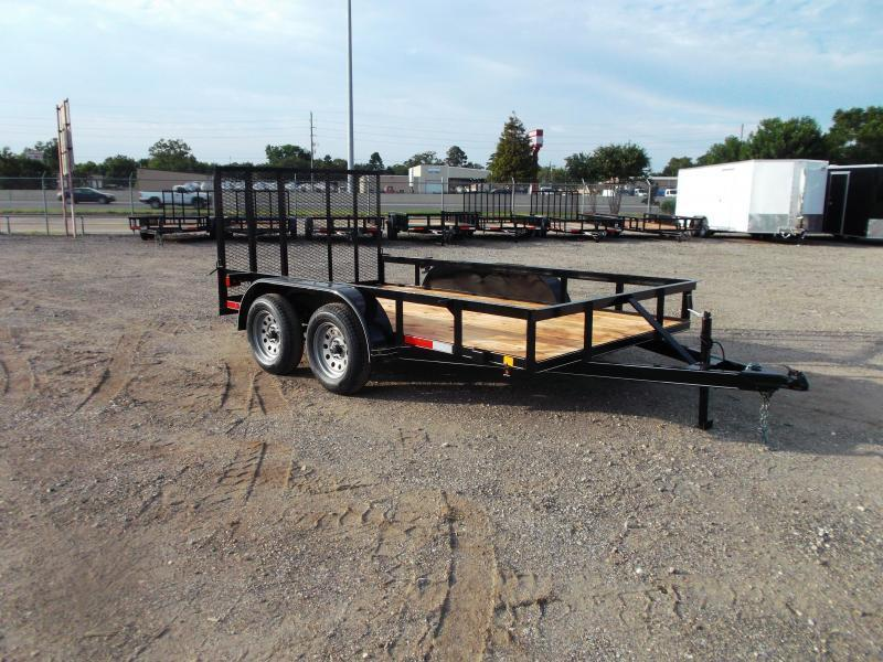 2021 TTC 77x12 Tandem Axle Utility Trailer / ATV Trailer / 4ft Ramp Gate