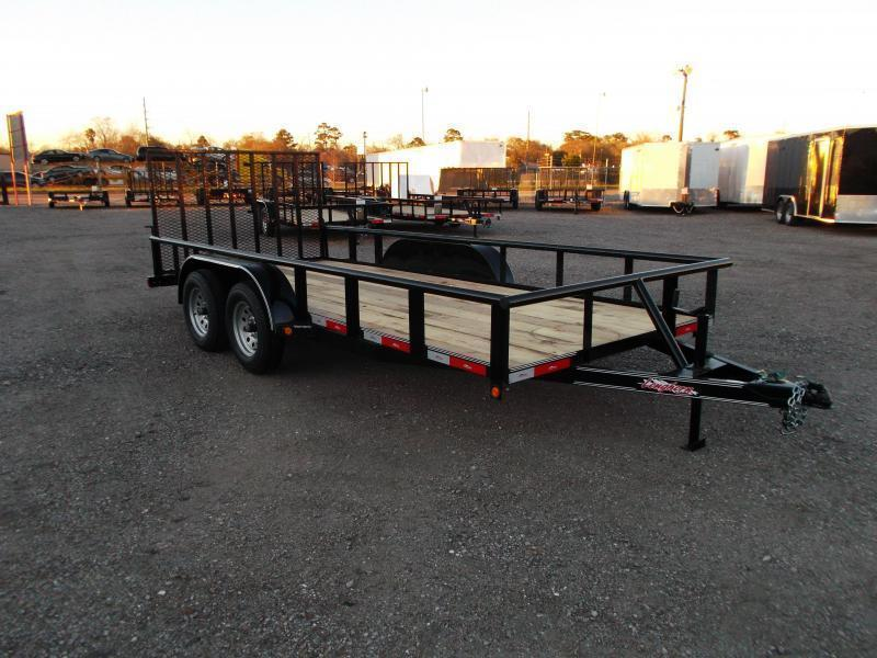 2020 Longhorn Trailers 16ft Utility Trailer / Pipetop / 4ft Ramp Gate