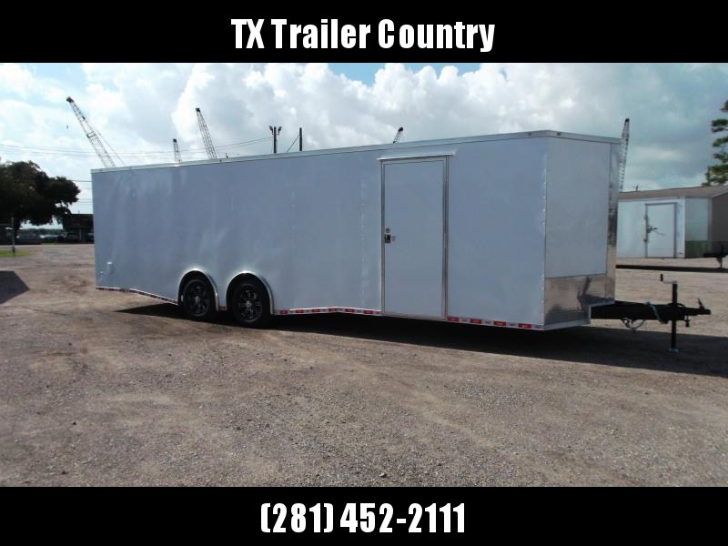 SPECIAL - 2022 Covered Wagon Trailers 8.5x28 Tandem Axle Race Trailer / Cargo / Enclosed Trailer / XXL Package / 7ft Interior Height / 7000# Torsion Split Axles / Semi-Screwless Exterior / Mag Wheels