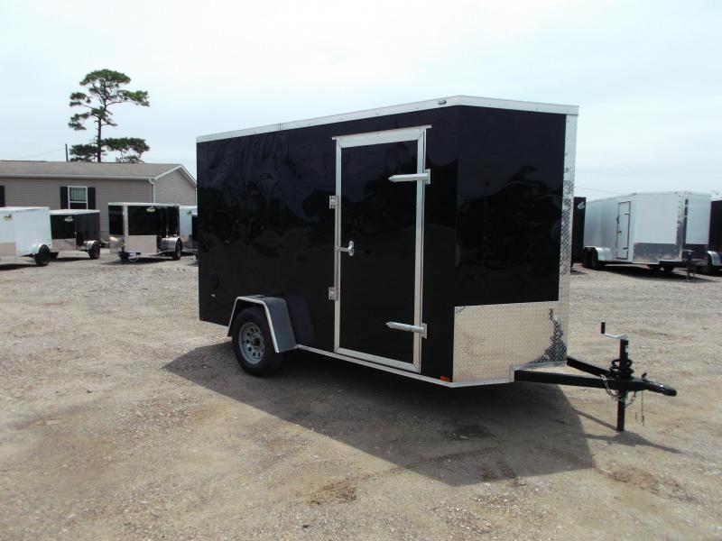 "2021 Prime 6x12 Single Axle Cargo Trailer / Enclosed Trailer / 6'6"" Interior Height / Ramp / Side Door / LEDs"