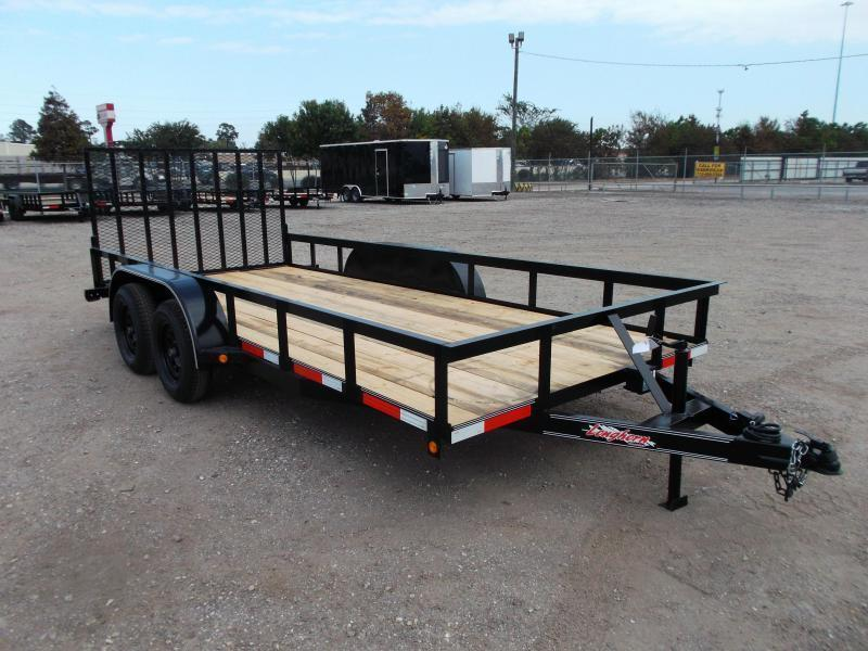 2021 Longhorn Trailers 16ft Utility Trailer / 4ft Heavy Duty Ramp / Electric Brakes