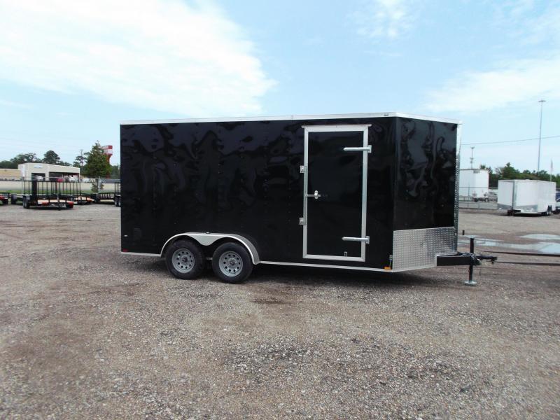 2021 Prime 7x16 Tandem Axle Cargo Trailer / Enclosed Trailer / 7ft Interior Height / Ramp / Side Door / LEDs