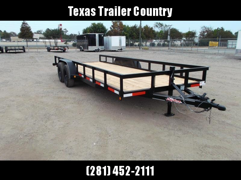 2021 Longhorn Trailers 83x20 Utility Trailer / 5200# Axles / Brakes / 5ft Ramps