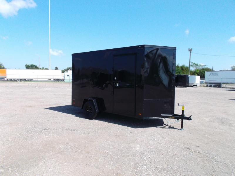 2021 Covered Wagon Trailers 6x12 Single Axle Cargo / Enclosed Trailer / Black Out Package / 7ft Interior / Ramp Gate / RV Side Door / LEDs
