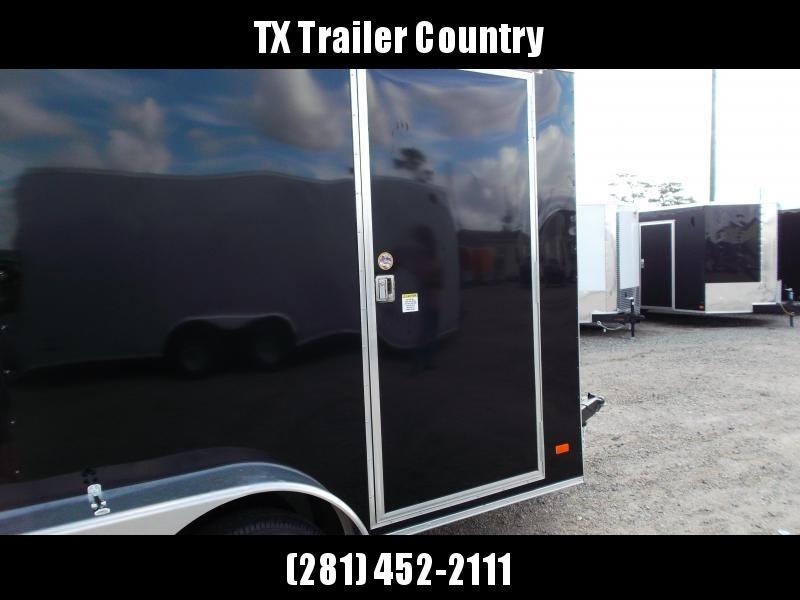 "SPECIAL - 2022 Covered Wagon Trailers 6x12 Tandem Axle Cargo Trailer / Enclosed Trailer / 6'6"" Interior / Barn Doors / RV Door / LEDs / .030 Black Semi-Screwless Exterior"