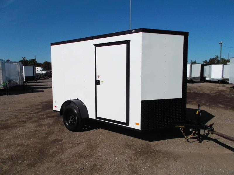 2021 Covered Wagon Trailers 6x10 Single Axle Cargo / Enclosed Trailer / Ramp / RV Side Door / LEDs / Semi-Screwless Exterior / Blackout Package