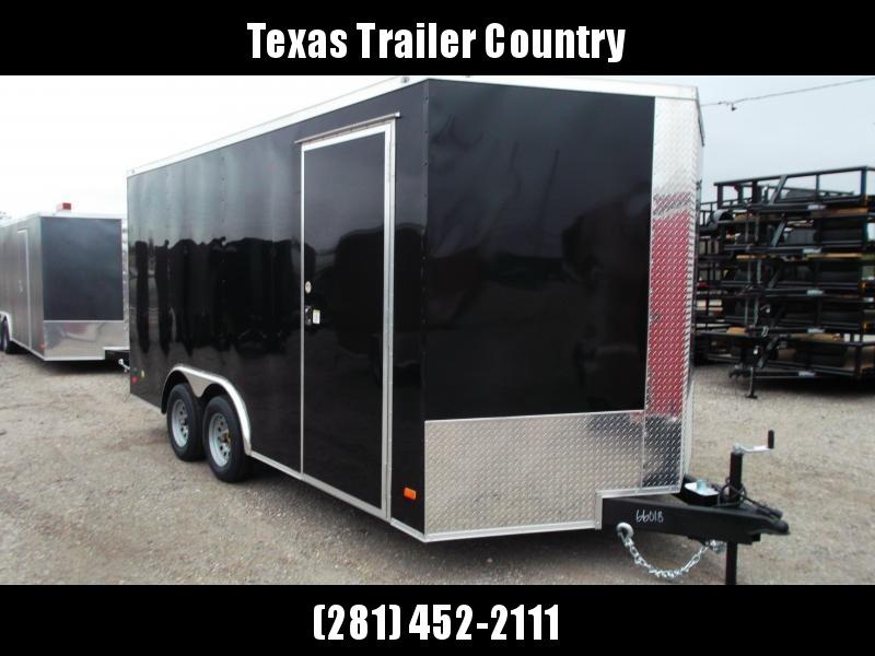 "2021 Covered Wagon 8.5x16 Tandem Axle Cargo Trailer / Car Hauler / Ramp / 6'6"" Interior Height / RV Side Door / LEDs / Semi-Screwless Exterior"
