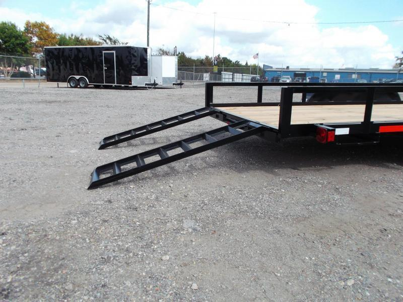 2021 Longhorn Trailers 83x20 Utility Trailer w/ 5ft Slide Out Ramps / Electric Brakes