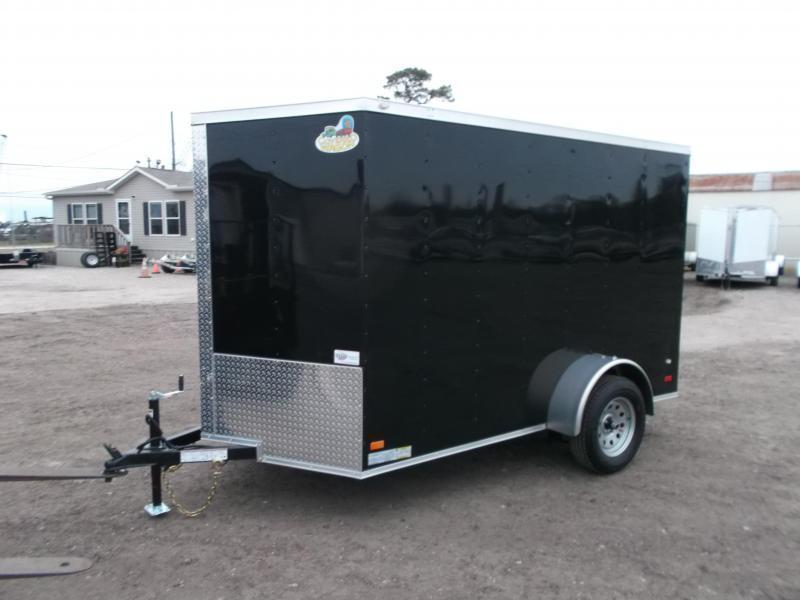 """2021 Covered Wagon Trailers 6x10 Single Axle Cargo / Enclosed Trailer / 6'6"""" Interior Height / Ramp Gate / RV Side Door / LEDs"""