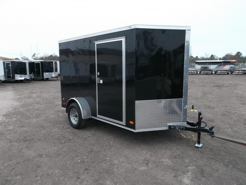 "2021 Covered Wagon Trailers 6x10 Single Axle Cargo / Enclosed Trailer / 6'6"" Interior Height / Ramp Gate / RV Side Door / LEDs"
