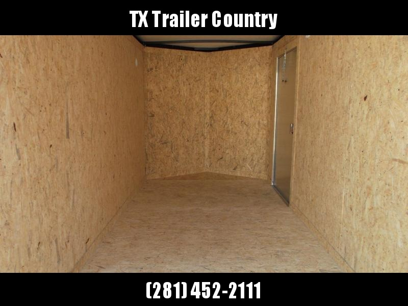 """2022 Covered Wagon Trailers 6x12 Single Axle Cargo / Enclosed Trailer / 6'3"""" Interior Height / Ramp Gate / RV Side Door / LEDs / Semi-Screwless Exterior / Black Out Package"""