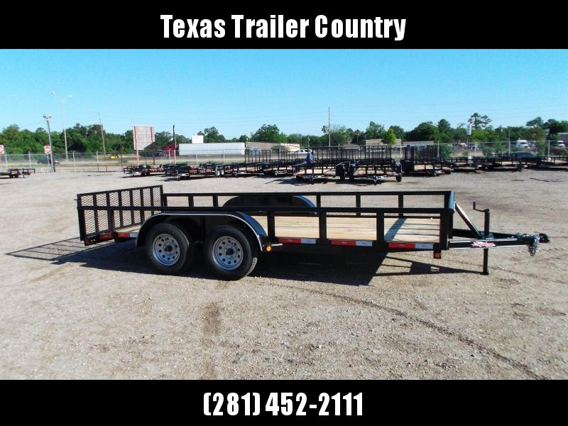 2021 Longhorn Trailers 16ft Utility Trailer / Side by Side Trailer / 2ft Dovetail / 2ft Ramp Gate / Pipetop