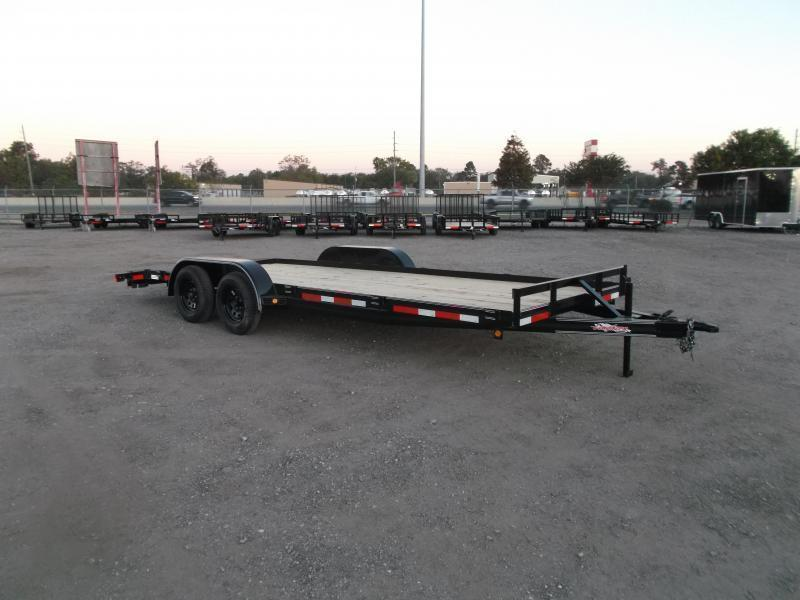 2021 Longhorn Trailers 83x20 7K Car Hauler / Racing Trailer / 2ft Dovetail / 5ft Ramps / Brakes