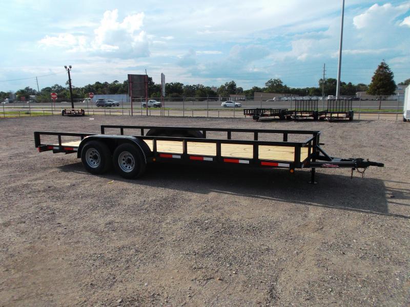 2020 Longhorn Trailers 83x20 Utility Trailer / 5200# Axles / Brakes / 5ft Ramps