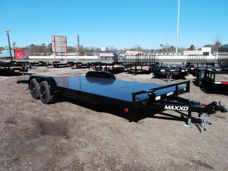 2021 Maxxd 83x20 Steel Deck Car Hauler / Racing Trailer / Powder Coated / 5ft Ramps / 4ft Dovetail / Adj Coupler