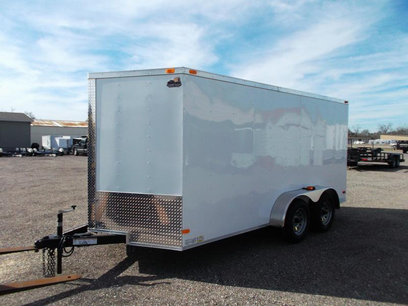 2019 Covered Wagon Trailers 7x14 Cargo Trailer / Enclosed Trailer / Motorcycle Trailer / (8) D-rings