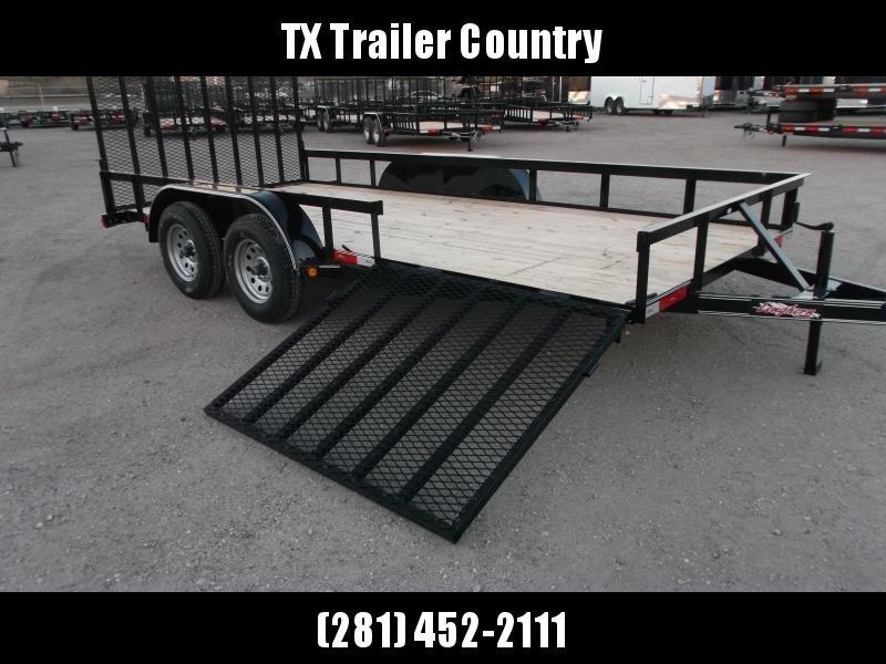 2022 Longhorn Trailers 83x16 Utility Trailer / ATV Trailer / Side by Side Trailer / 4ft Rear Ramp / 4ft Side Load Ramp