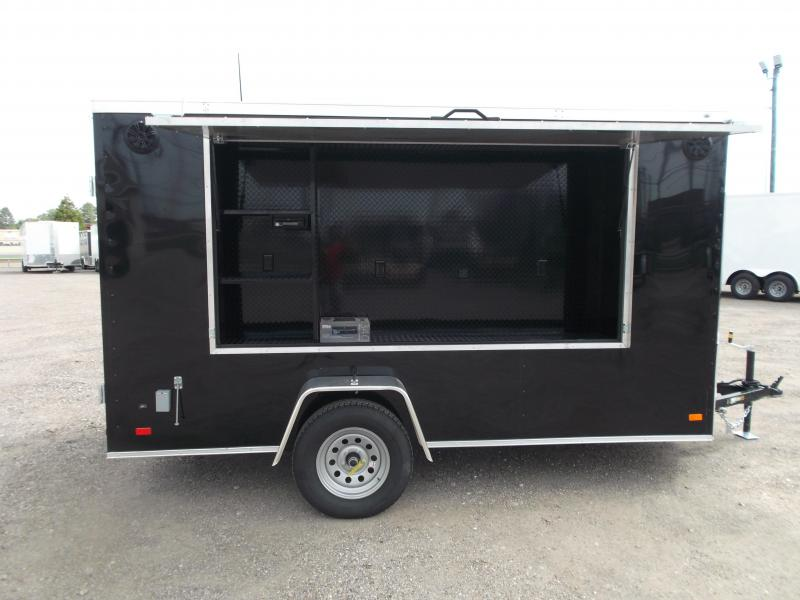 2020 Covered Wagon Trailers 6x12 Tailgate Trailer / Stereo Package / Boss Marine Speaker System / Semi-Screwless Exterior / Electrical Package