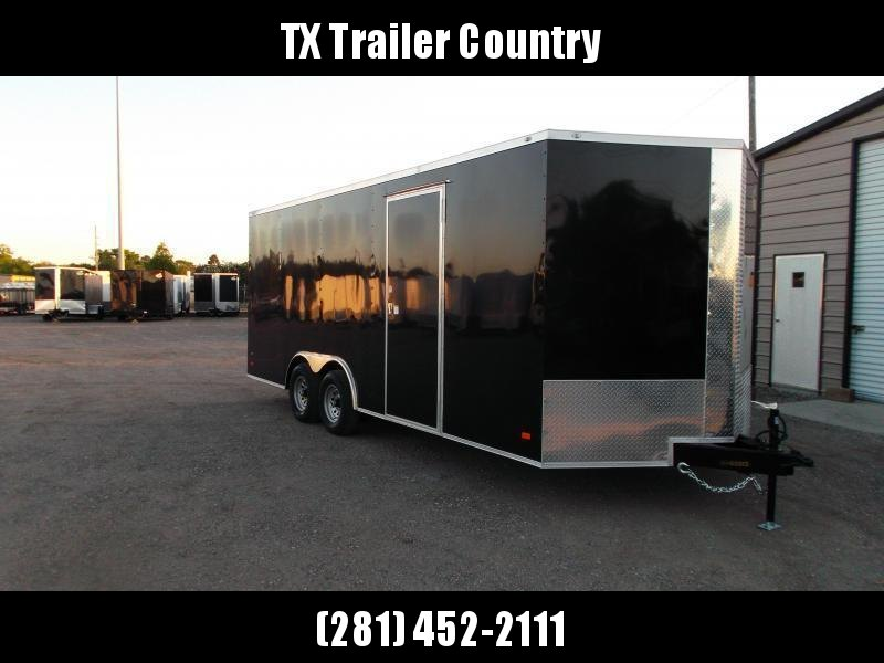 SPECIAL - 2022 Covered Wagon Trailers 8.5x20 Tandem Axle Cargo / Enclosed Trailer / 7ft Interior / 5200# Axles / RV Side Door / LEDs / Semi Screwless Exterior