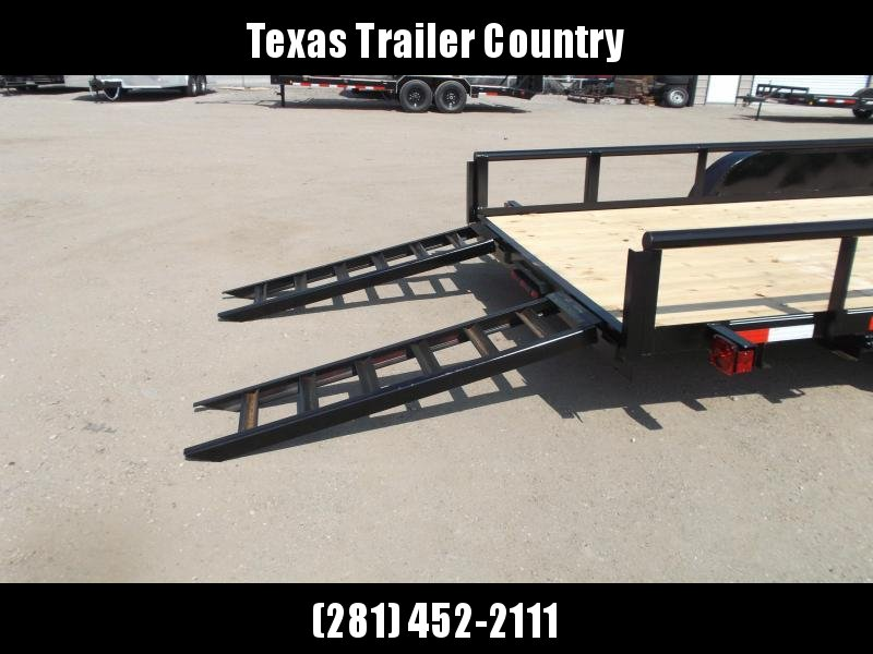 2021 Longhorn Trailers 83x20 Utility Trailer / 5200# Axles / Brakes / 5ft Ramps / Pipetop