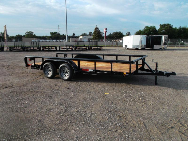2021 TTC 77x16 Utility Trailer / Lowboy Trailer / 5ft Slide Out Ramps