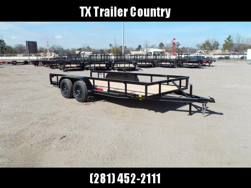 2021 TTC 77x16 Utility Trailer / Lowboy Trailer / 5ft Slide Out Ramps