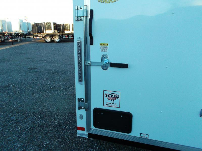 2021 Covered Wagon Trailers 5x8 Single Axle Cargo Trailer / Enclosed Trailer / Swing Door / Semi-Screwless Exterior / LEDs