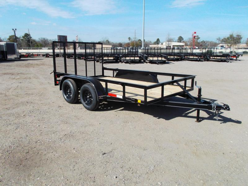 2021 TTC 77x12 Tandem Axle Utility Trailer / ATV Trailer / Wrap Tongue Upgrade / 4ft Ramp Gate