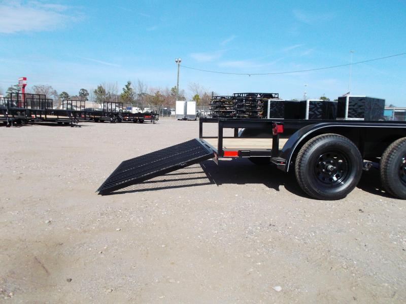 2021 TTC 77x12 Tandem Axle Utility Trailer / ATV Trailer / Wrap Tongue Upgrade / 4ft Ramp Gate