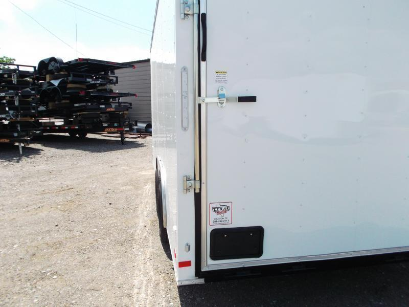 2021 Covered Wagon Trailers 8.5x16 Tandem Axle Cargo / Enclosed Trailer / 7ft Interior / Ramp / RV Side Door / LEDs
