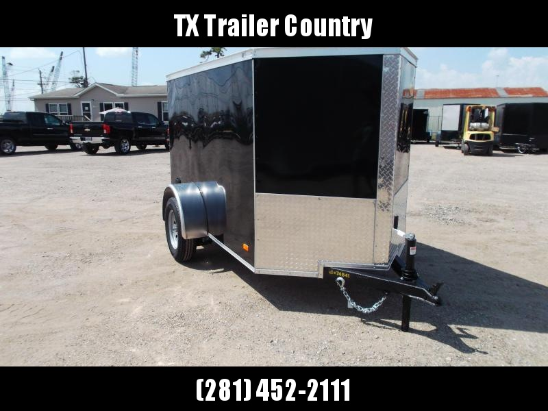 2022 Covered Wagon Trailers 5x8 Single Axle Cargo Trailer / Enclosed Trailer / Swing Door / LED's / Semi-Screwless Exterior
